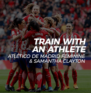 Atletico de Madrid Feminine Team training with an athlete